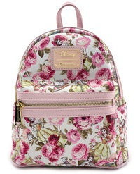 Loungefly: Disney Beauty and the Beast - Floral Mini Backpack