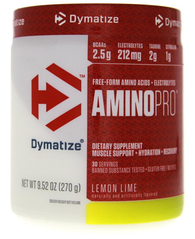 Dymatize Amino Pro+Energy - Lemon Lime (270g)