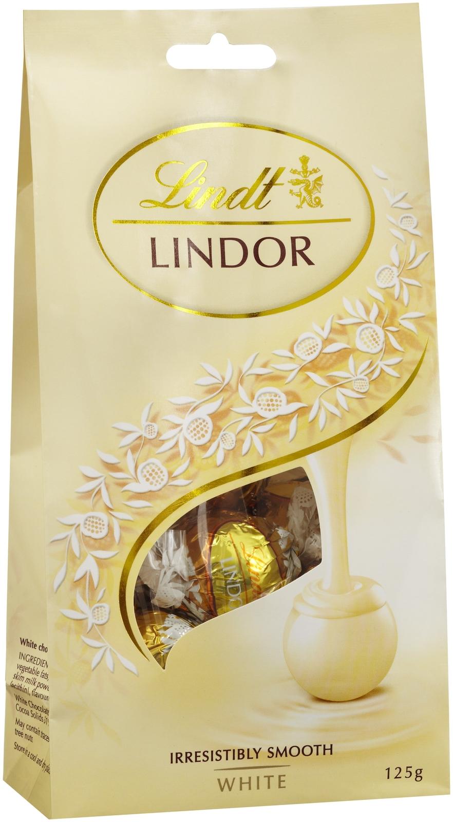 Lindt: Lindor White Chocolate Bag (125g) image
