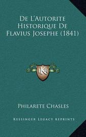 de L'Autorite Historique de Flavius Josephe (1841) by Philarete Chasles