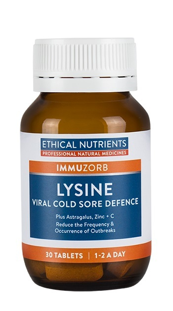 Ethical Nutrients: IMMUZORB Lysine Viral Cold Sore Defence (30 Tablets)