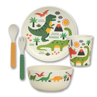 Petit Collage Bamboo Dinner Set (Dino)