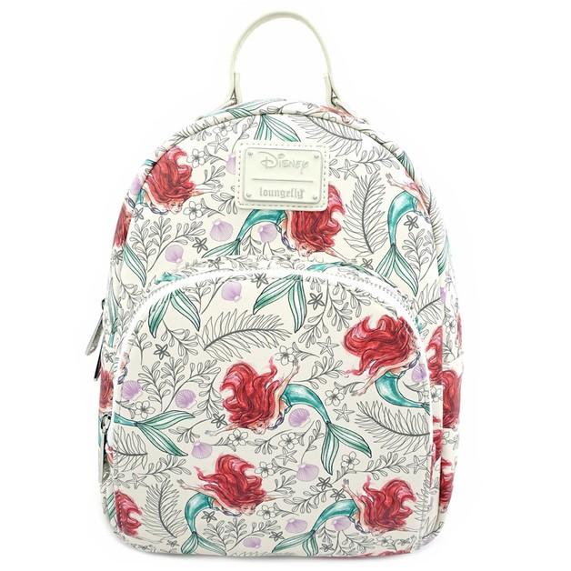 Loungefly: Little Mermaid - Ariel Sketch Print Mini Backpack