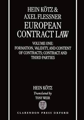 European Contract Law by Hein Kotz image