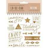 La De Dah: Metallic Gold Foil Stickerbook