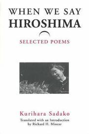 When We Say 'Hiroshima' by Sadako Kurihara