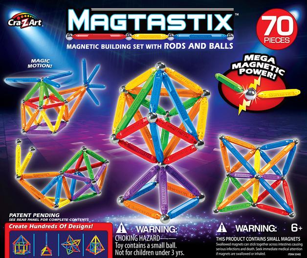 Magtastix: Magnetic Building Set - (70pc)