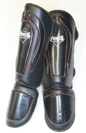 Punch: Black Diamond Shin Pads - Large (Black/Orange)