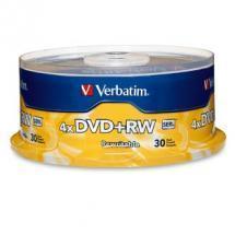 Verbatim DVD+RW 4.7GB 30Pk Spindle 4x