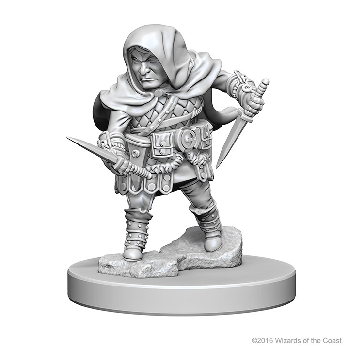 D&D Nolzur's Marvelous: Unpainted Minis - Halfling Male Rogue image