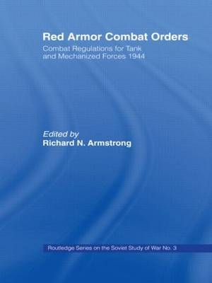 Red Armor Combat Orders by Richard N. Armstrong image