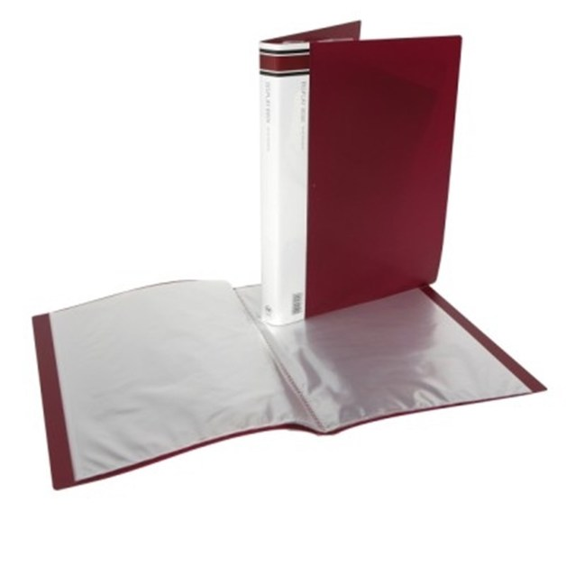 Buy FM A40 400 Pocket Display Book Burgundy At Mighty Ape Australia Awesome Book Display Stand Australia