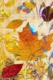 An Autumn Leaf Collage Art Journal by Cs Creations image