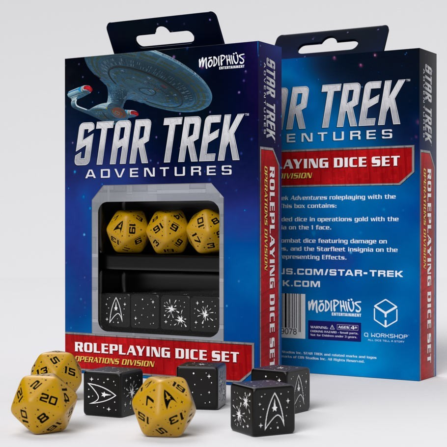 Star Trek Adventures Dice Set: Gold & Black image