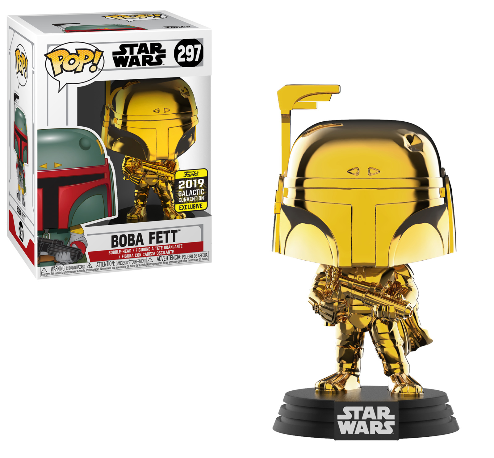 Star Wars - Boba Fett (Gold Chrome) Pop! Vinyl Figure image
