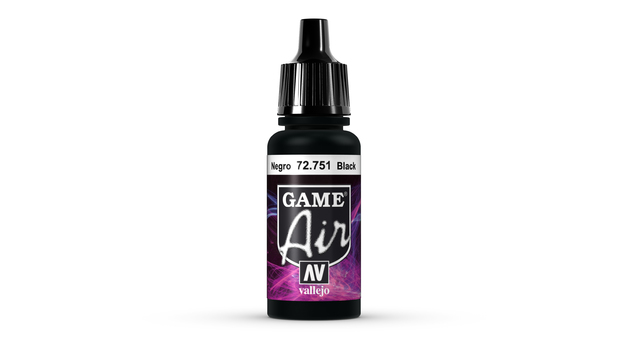 Vallejo Game Air Black Acrylic Paint (17ml)