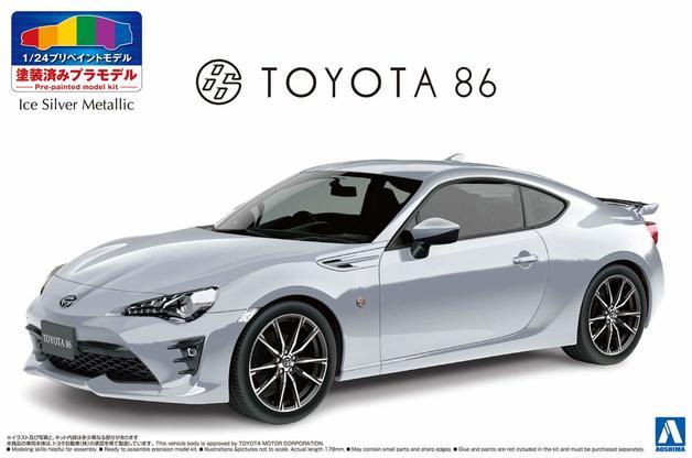 Aoshima: 1/24 Toyota ZN6 Toyota86 '16 (Ice Silver MEtallic) - Model Kit