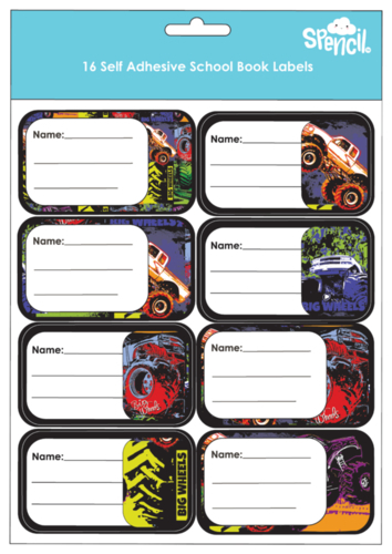Spencil: Big Wheels II - Name & Subject Labels (16-Pack) image
