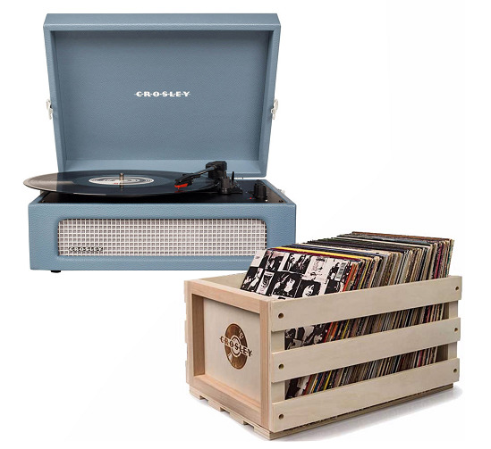 Crosley: Voyager Portable Turntable - Washed Blue