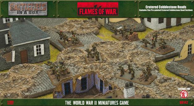 Battlefield in a Box- Cratered Cobblestone Roads
