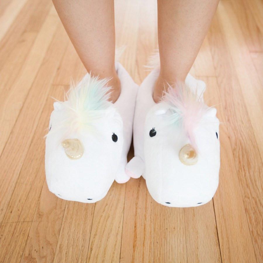 Unicorn Light Up Slippers image