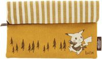 Pokemon Pocket Monster Sepia Graffiti Button-Down Pouch