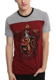 Harry Potter: Gryffindor Mens Yoke T-Shirt (Large)