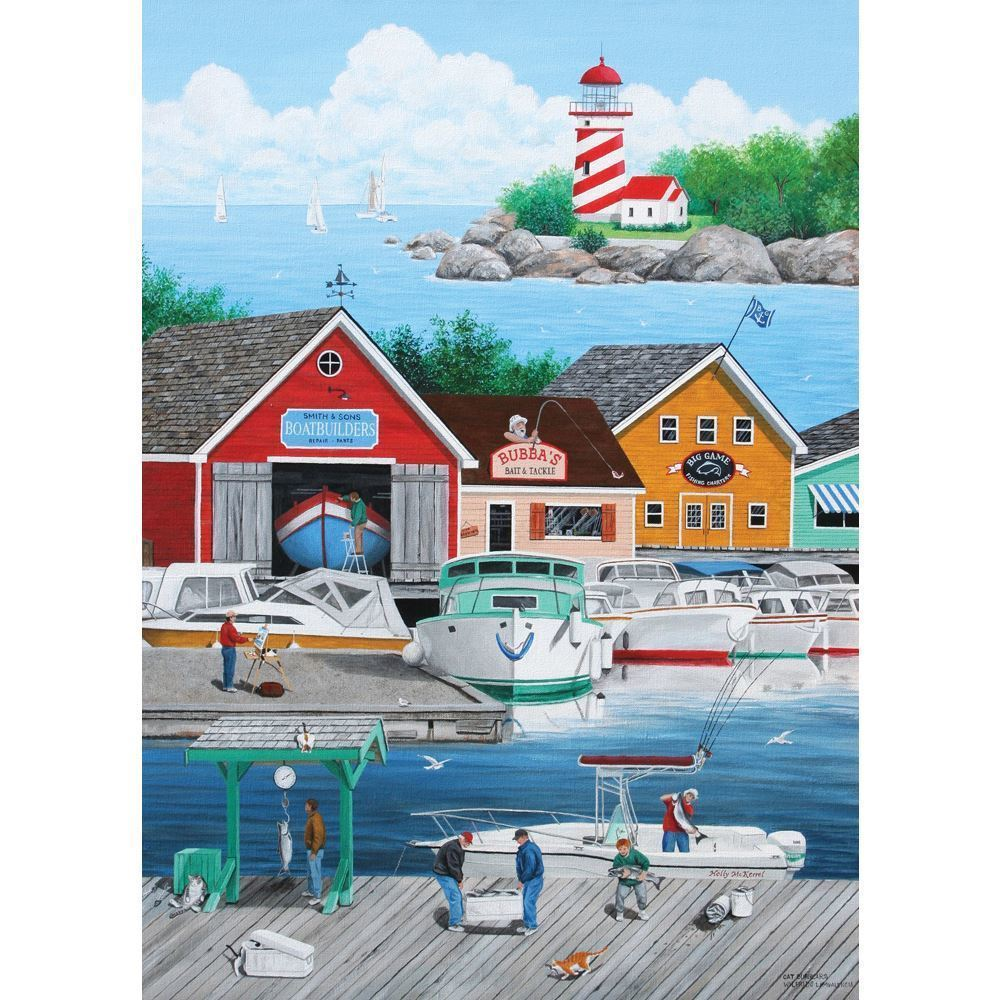 Holdson: 1000 Piece Puzzle - Dock Of The Bay (Cat Burglar) image
