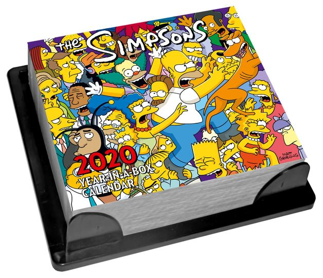 Official The Simpsons 2020 Boxed Calendar