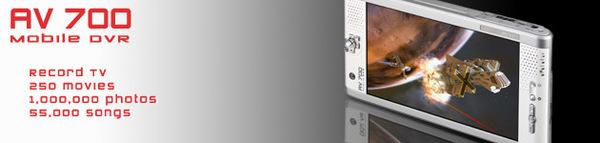 Archos AV700 100GB Portable Media Player Video Photo Audio TV Centric - AV recorder