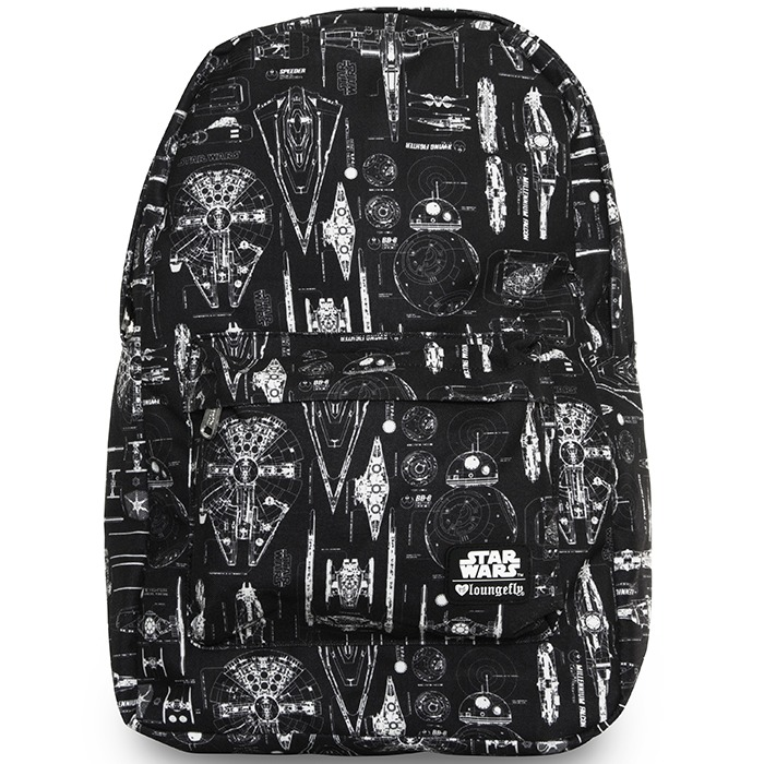 Loungefly Star Wars Ship Blueprint Backpack image