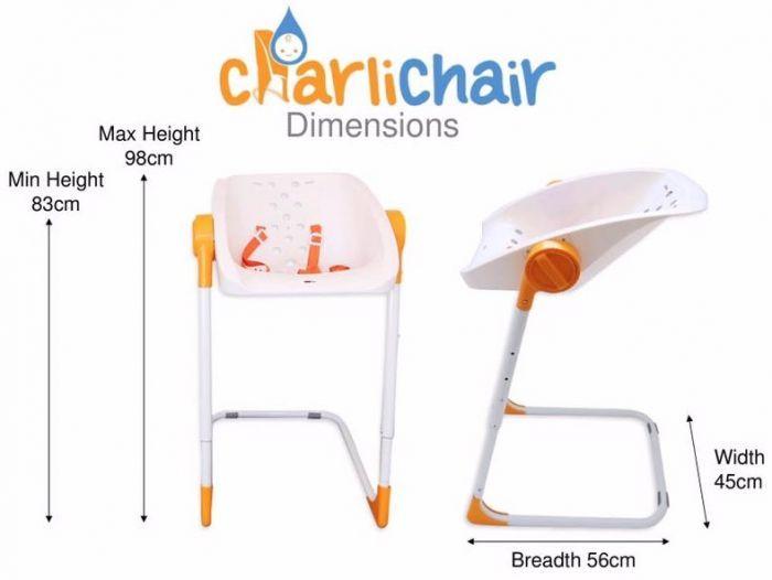 Charli: Baby Shower Chair - Orange/White image