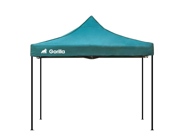 Heavy Duty Steel Gazebo 3x3m Waterproof - Green