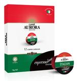 Caffe Aurora Italian Blend Coffee Capsules (12 Espressotoria)