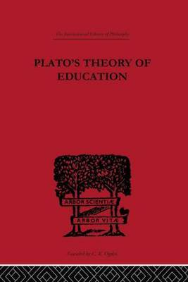Plato's Theory of Education by R.C. Lodge image