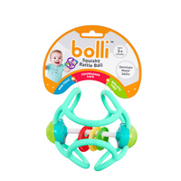 Bolli Ball - Flexible Discovery Rattle Ball (Assorted Colours)