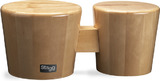 "Stagg Wood Bongo 7.5"" + 6.5"" (Natural)"