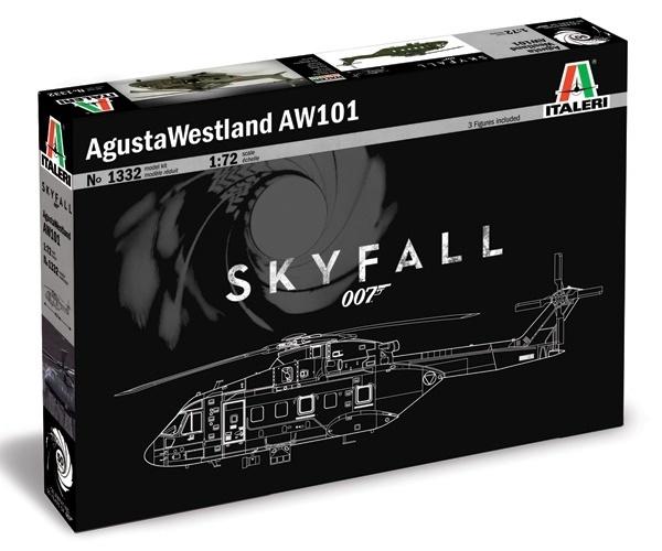 Italeri: 1:72 August Westland AW101 (Skyfall) - Model Kit image