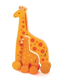 Jack Rabbit Creations: Mummy & Baby Push Toy - Giraffe