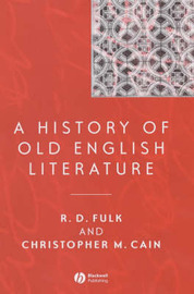A History of Old English Literature by R.D. Fulk image