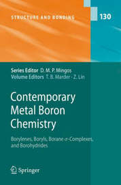 Contemporary Metal Boron Chemistry I