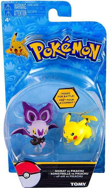 Pokémon: Action Pose Pikachu vs. Noibat - Figure 2-Pack
