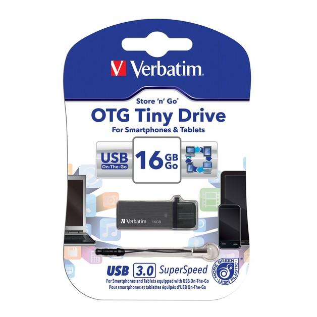 Verbatim Store'n'Go OTG Tiny USB 3.0 Drive - 16GB