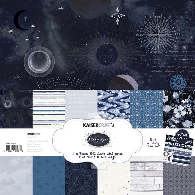 Kaisercraft: Paper Pack with Bonus Sticker Sheet - Stargazer