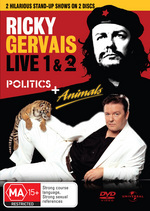 Ricky Gervais Live -- Animals / Live 2 -- Politics :- Double the Laughs Double the Value! on DVD