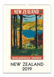 New Zealand 2019 Wall Calendar