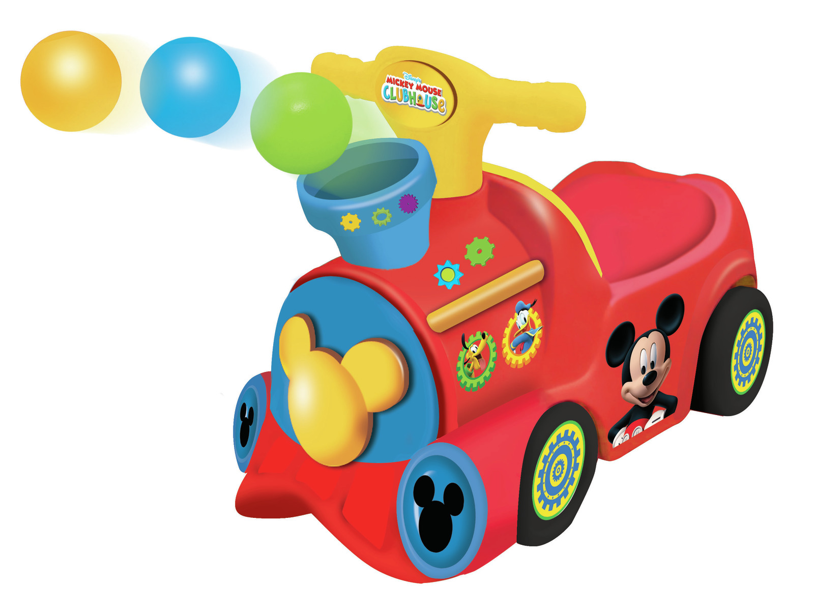 Kiddieland: Pick & Pop Train Activity Ride-On - Mickey Mouse image