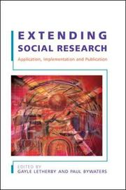 Extending Social Research by Gayle Letherby