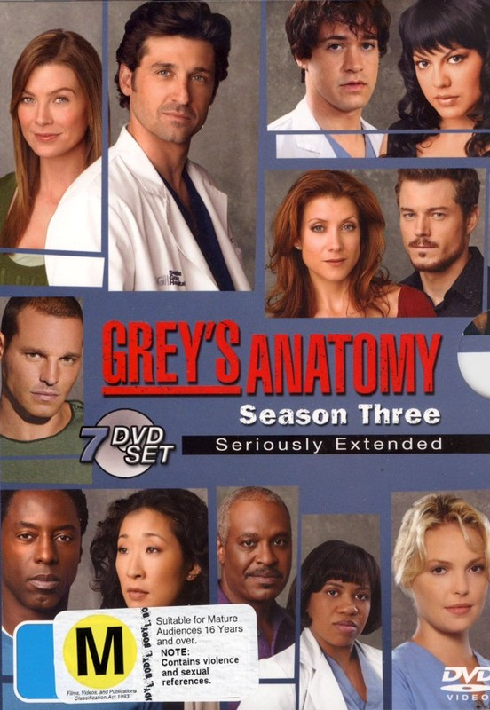 Grey's Anatomy - Season 3: Seriously Extended (7 Disc Set) on DVD