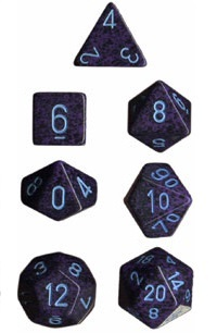 Chessex - Polyhedral Dice Set - Cobalt Speckled